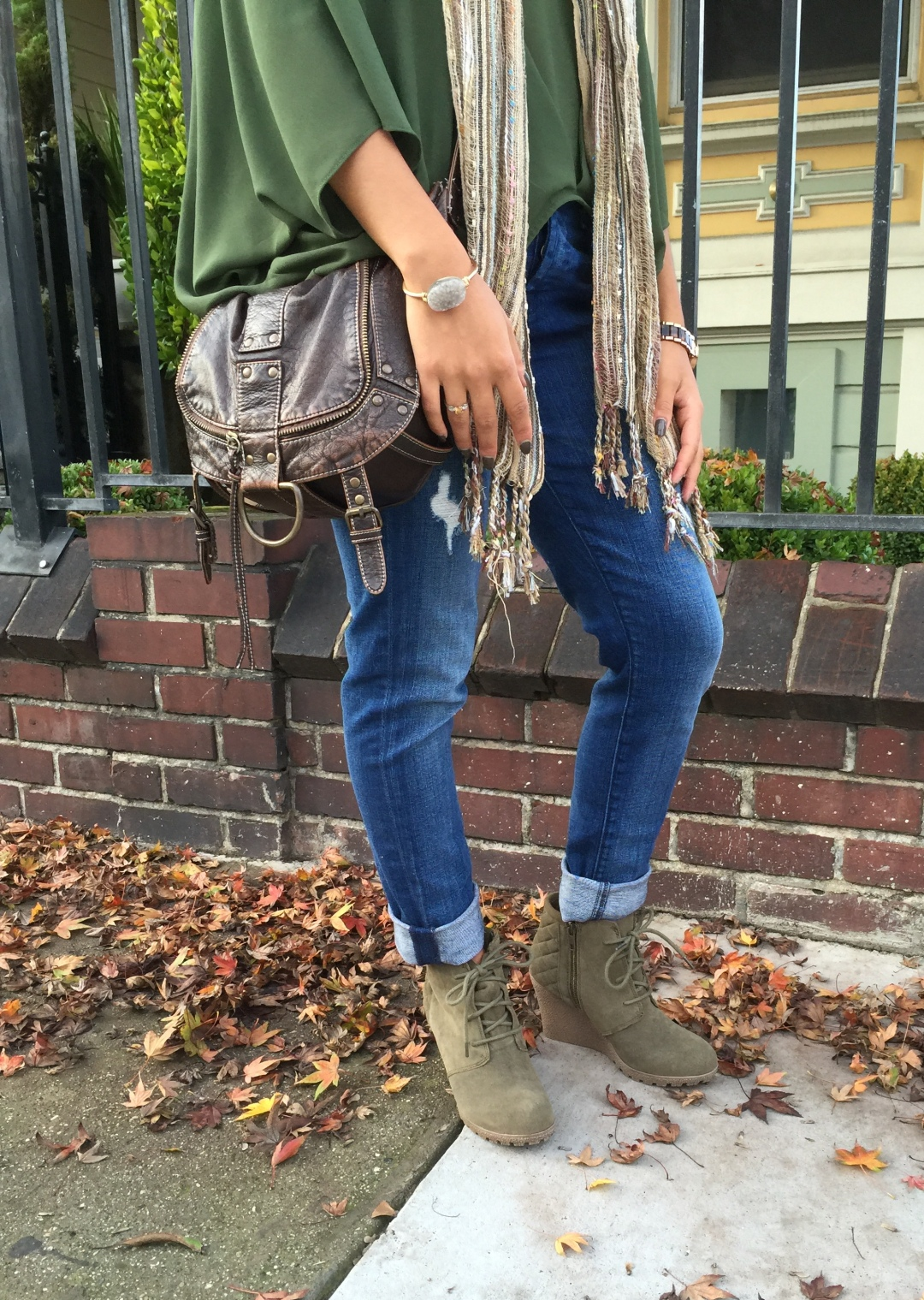Boyfriend jeans day and night