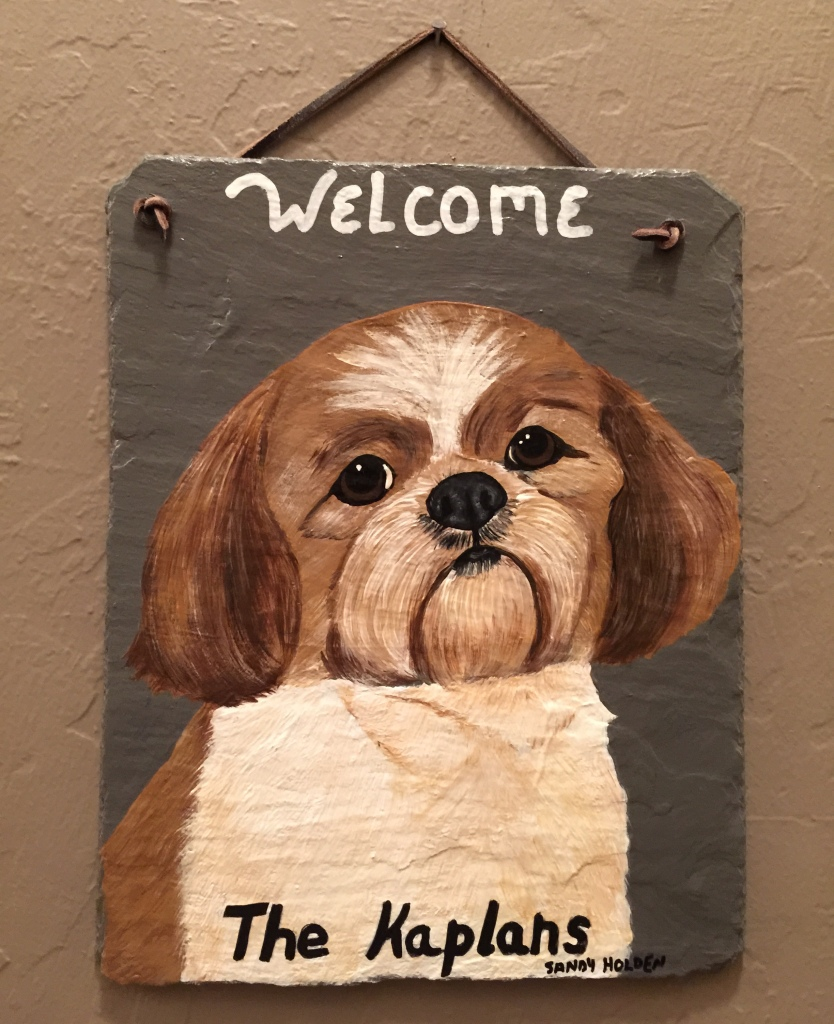 Dog Breed Welcome Sign