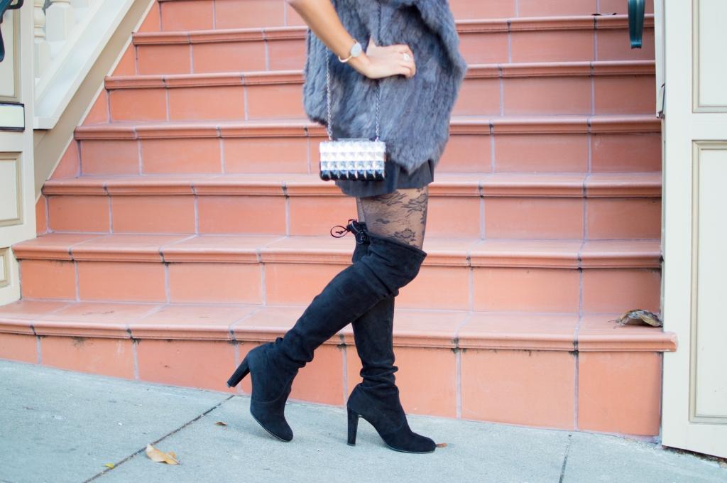 Gray angora vest
